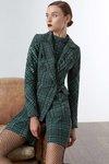 Chiara Boni USA - Goldieau Printed Jacket - Madras Green - Chiara Boni USA