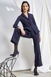 Chiara Boni USA - FRED PINSTRIPE PANTS - Bonnie Navy - Chiara Boni USA