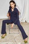 Chiara Boni - ATENA SHIRT PRINTED - Art Deco Diamonds Blue - Chiara Boni