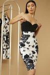 Chiara Boni - Lumi Printed Skirt - Black Geranium Optical - Chiara Boni