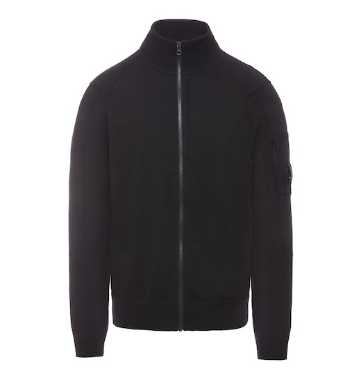 SEA ISLAND COTTON LENS FULL ZIP SWEATER