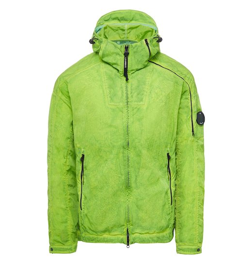 CHROME RE-COLOUR LENS DOUBLE ZIP HOODED JACKET