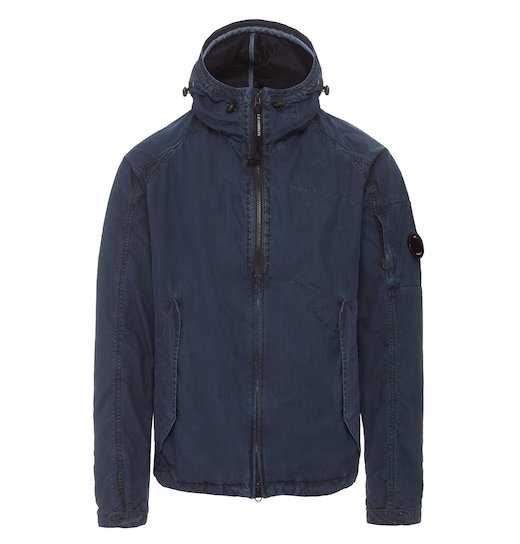 INDIGO 50 FILI LENS FULL ZIP HOODED JACKET