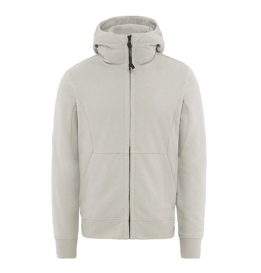 DIAGONAL FLEECE GOGGLE FULL ZIP SWEATSHIRT