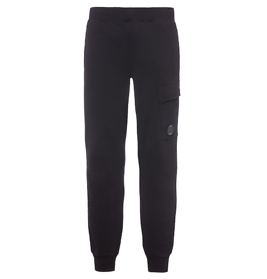 DIAGONAL FLEECE LENS JOGGING PANTS