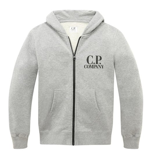 Under16 Cotton Fleece Goggle Small Logo Full Zip Sweatshirt 10-14 Yrs