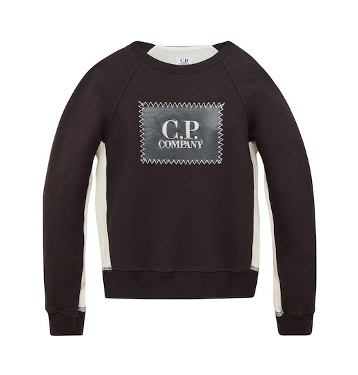 Under16 Cotton Fleece C.P. Label Crew Sweatshirt 10-14 Yrs