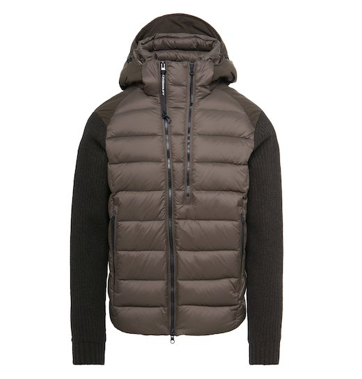 Goggle Quilted Knit Jacket