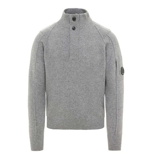 Lambswool Lens Half Button Sweater