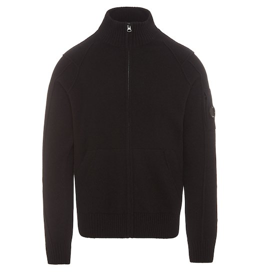 Lambswool Lens Full Zip Sweater