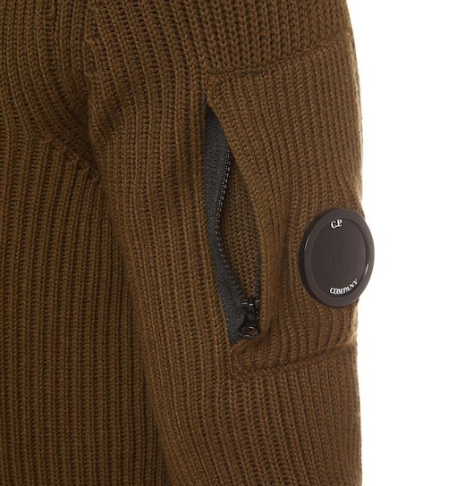 Merino Wool Fisherman Crew Lens Sweater