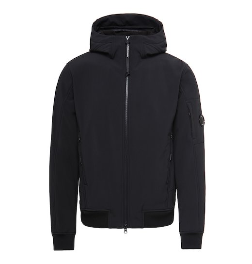 C.P. Soft Shell Lens Full Zip Hooded Short Jacket