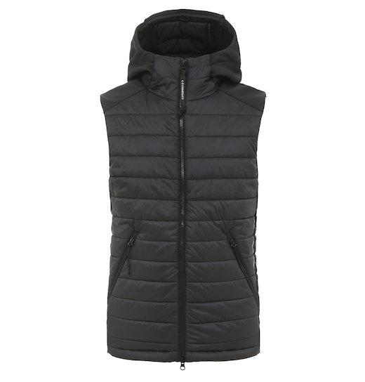 C.P. Soft Shell Mixed Goggle Full Zip Vest