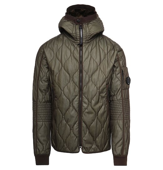 Bi-Mesh Quilted Full Zip Hooded Jacket