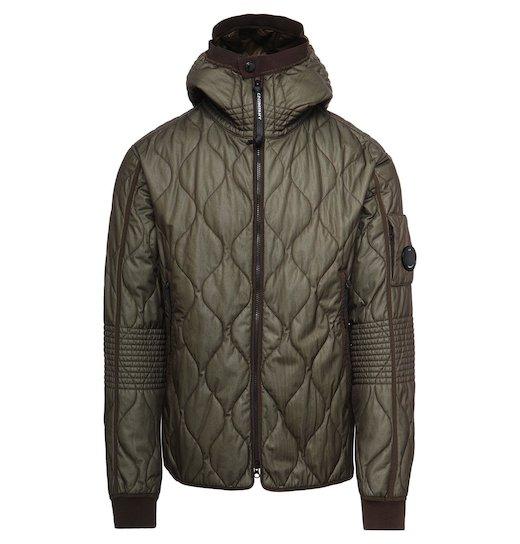 Bi-Mesh Quilted Full Zip Hooded Jacket