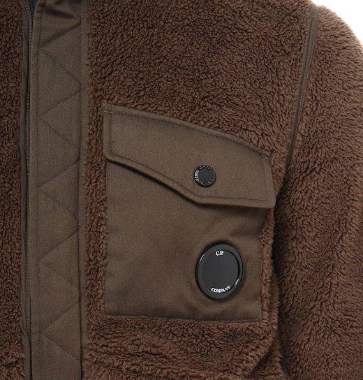 C.P. Soft Shell Reversible 3L Fur Bomber Short Jacket
