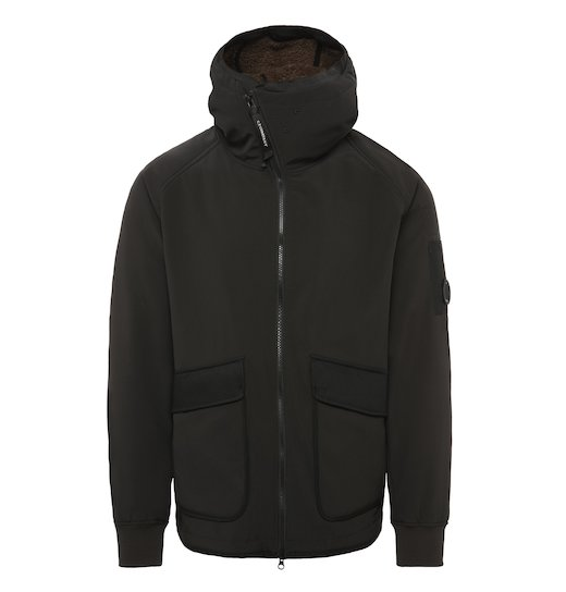 C.P. Soft Shell 3L Utility Full Zip Lens Hooded Jacket