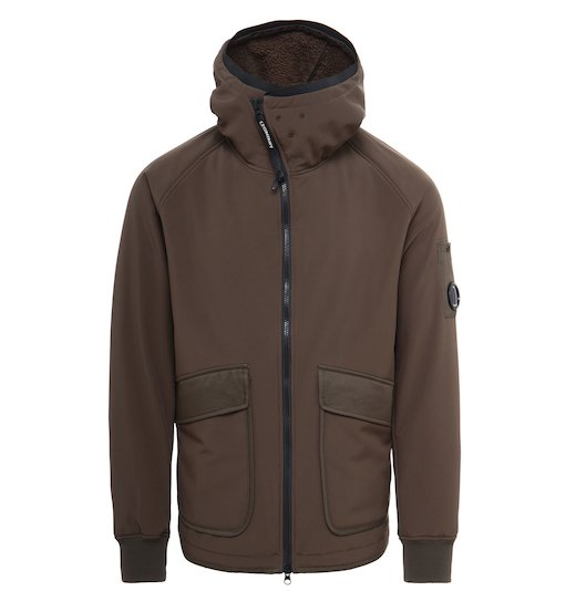 C.P. Soft Shell 3L Utility Full Zip Lens Hooded Jacket