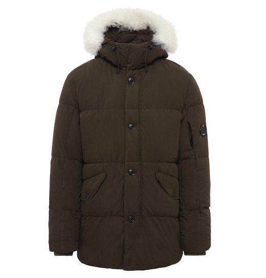 50 Fili Lens Fur Puffy Parka Long Jacket