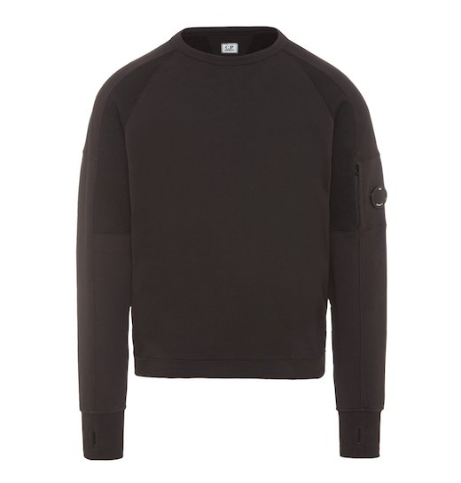 Diagonal Raised Fleece Lens Urban Crew Sweatshirt