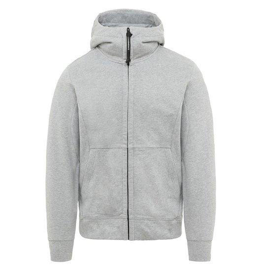 Diagonal Raised Fleece Goggle Full Zip Sweatshirt