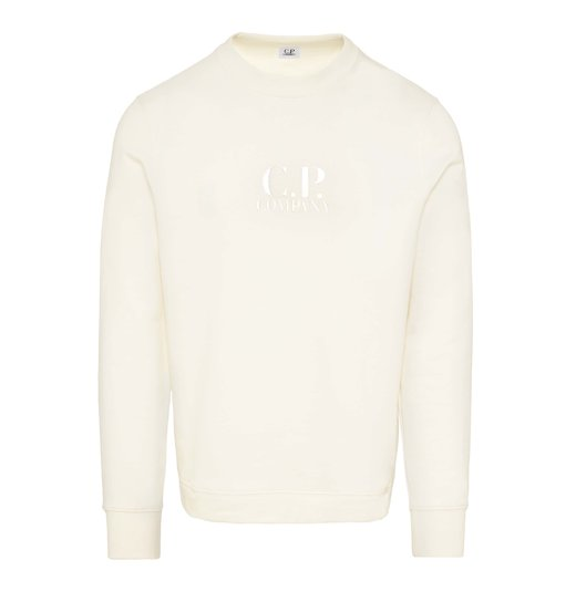Diagonal Raised Fleece Logo Crew Sweatshirt