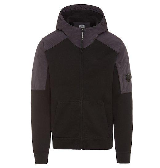 GD Emerized Fleece Mixed Lens Full Zip Hooded Sweatshirt