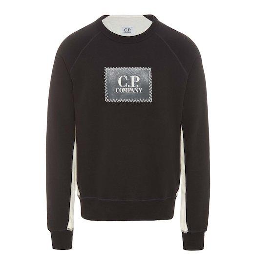 Emerized Fleece Label Patch Crew Raglan Sweatshirt
