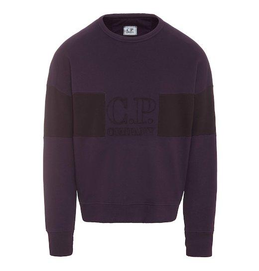 GD Emerized Fleece Two Tone Logo Lens Crew Sweatshirt