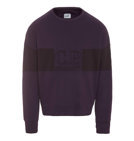 GD Emerized Fleece Two Tone Logo Lens Crew Sweatshirt