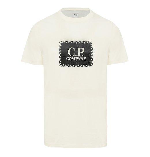 Cotton Jersey C.P. Label Print SS T Shirt