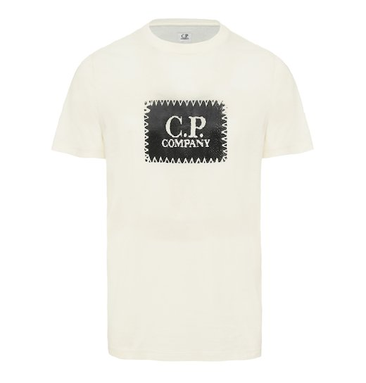 Cotton Jersey C.P. Label Print SS T Shirt