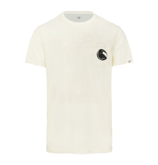Cotton Jersey Lens Pocket Print SS T Shirt