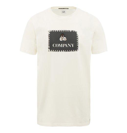 Cotton Jersey Comics Label Print SS T Shirt