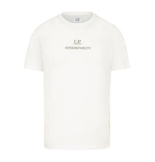 Cotton Jersey #eyesonthecity Goggle Back Print SS T Shirt