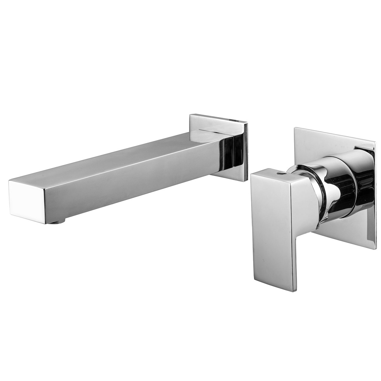 Double outlet wash basin mixer Quadra
