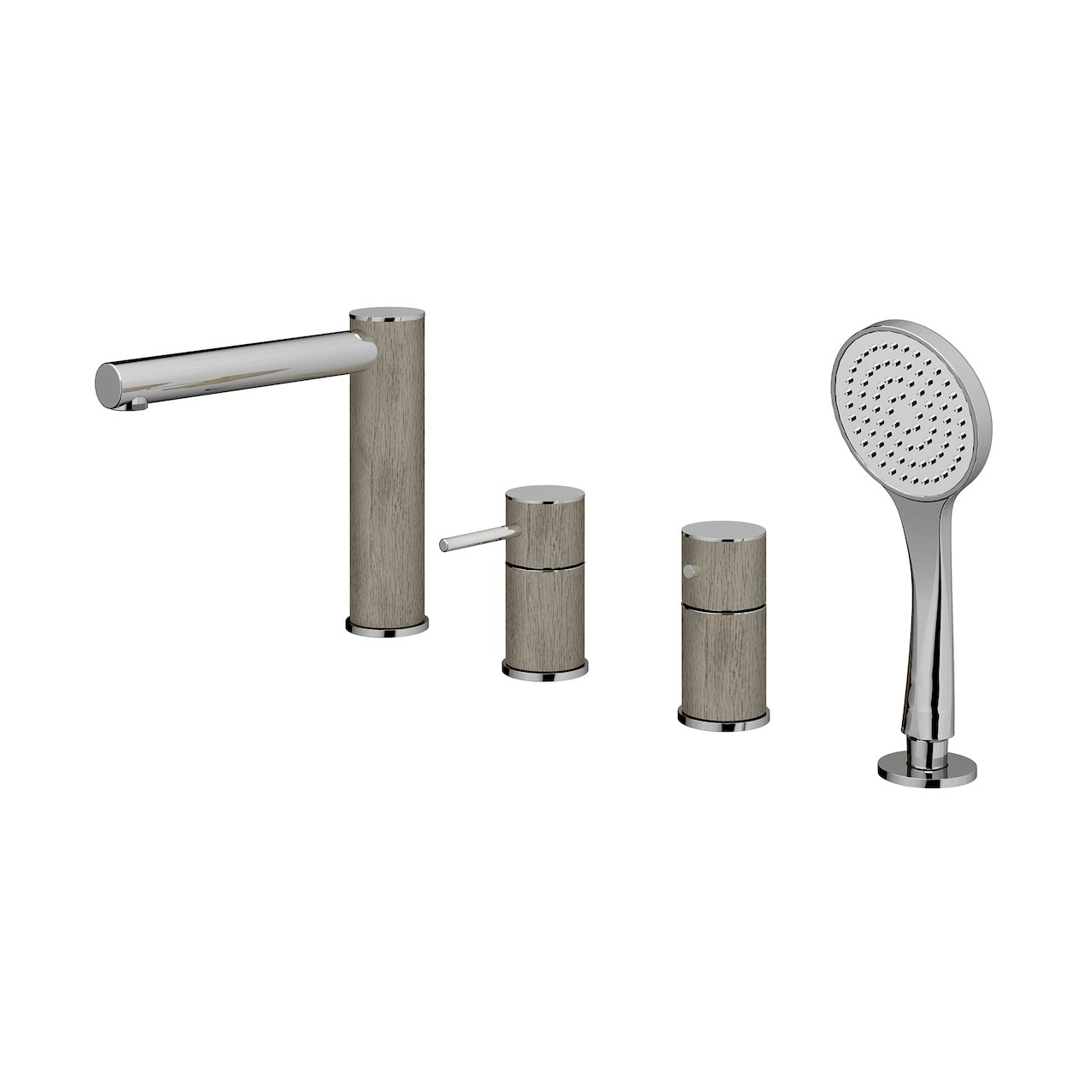 4-way Deck-Mounted Bathtub Tap Rovere