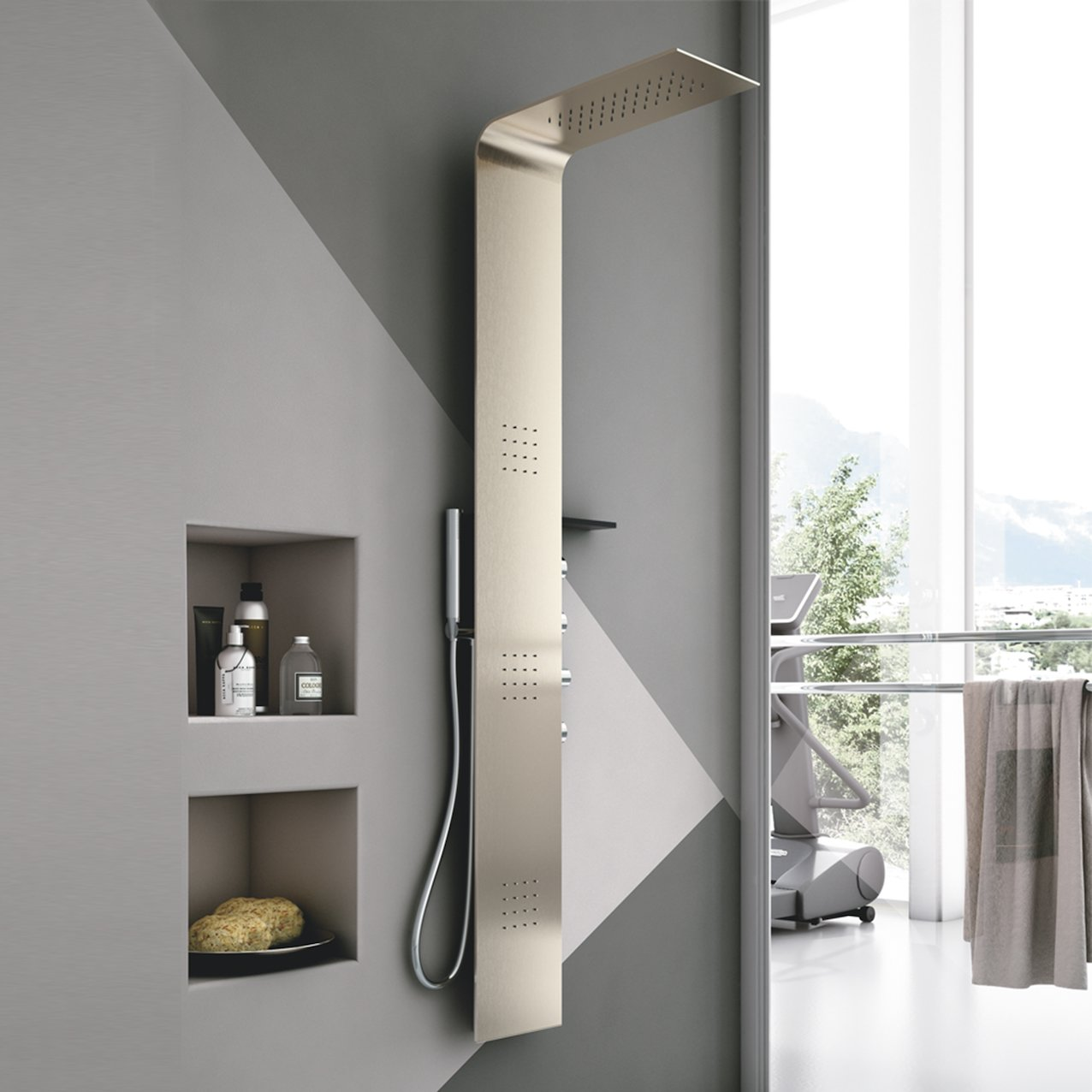 Metal Shower Column
