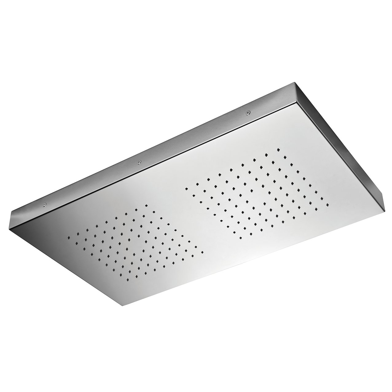Square shower head Inox 700x400 2 rain jets
