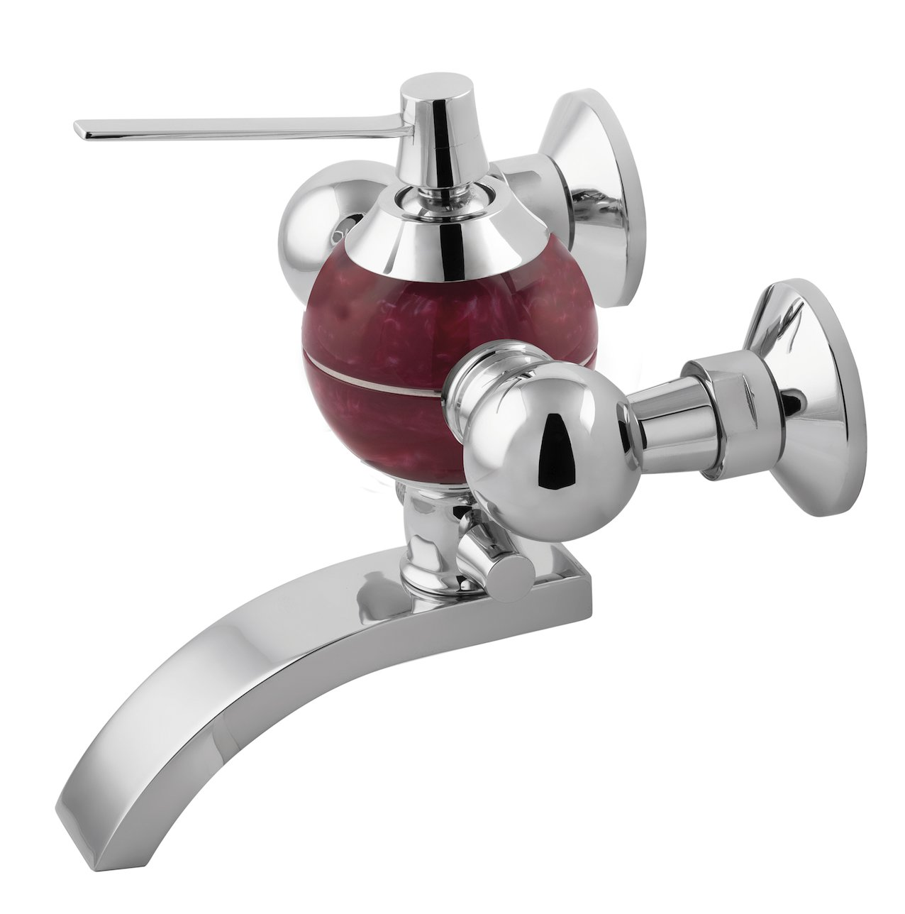 Bath mixer Perle red