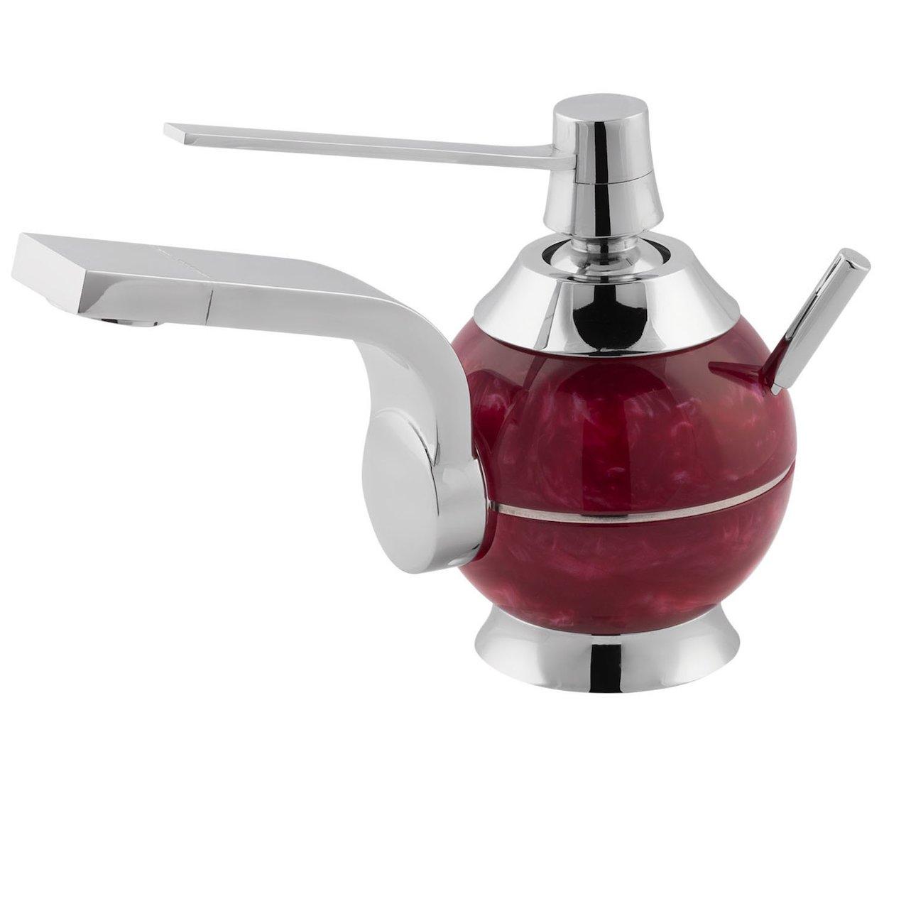 Basin mixer Perle red