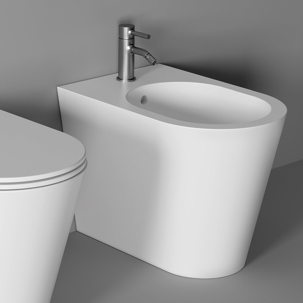 Bidet Hide Round back to wall