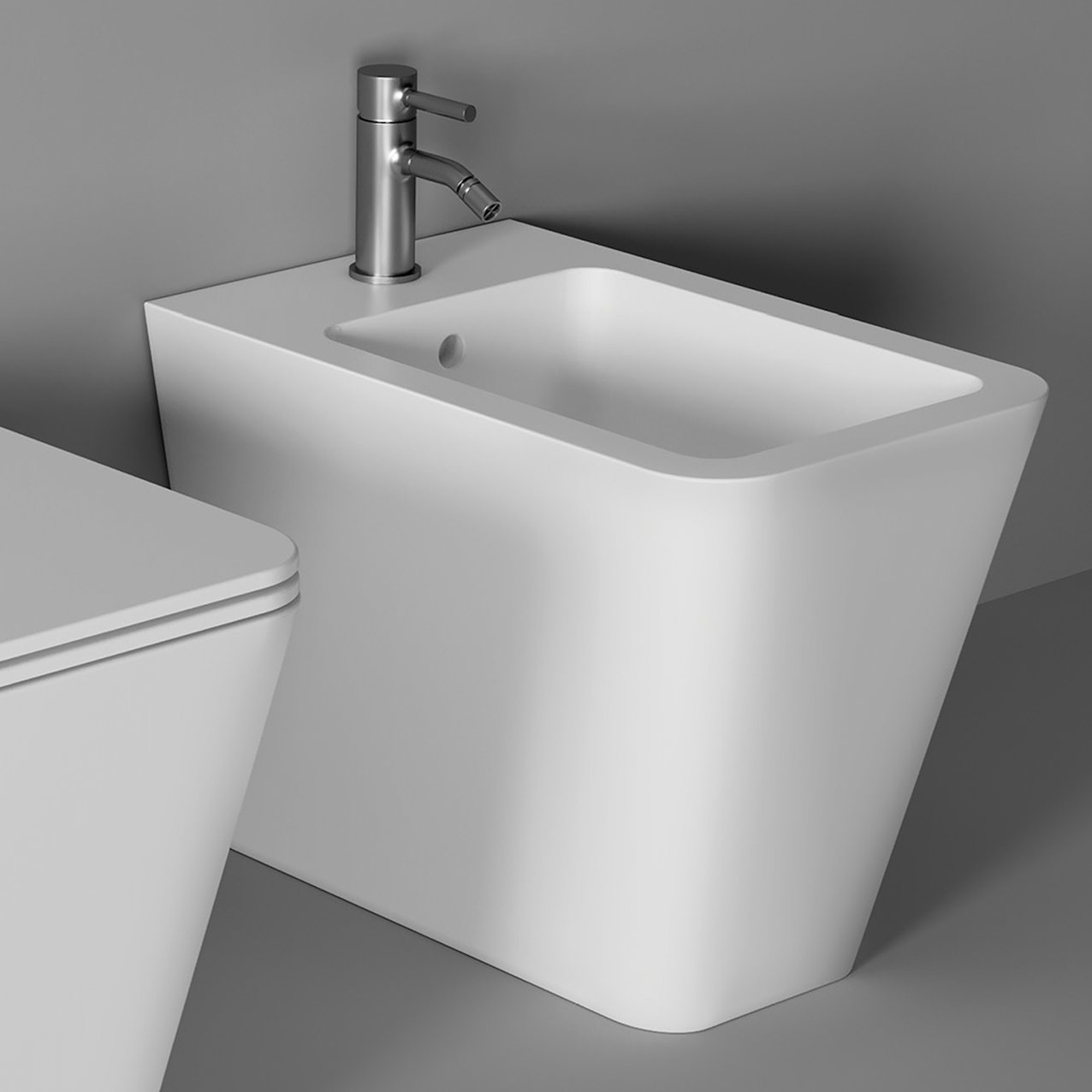 Bidet Hide Square back to wall