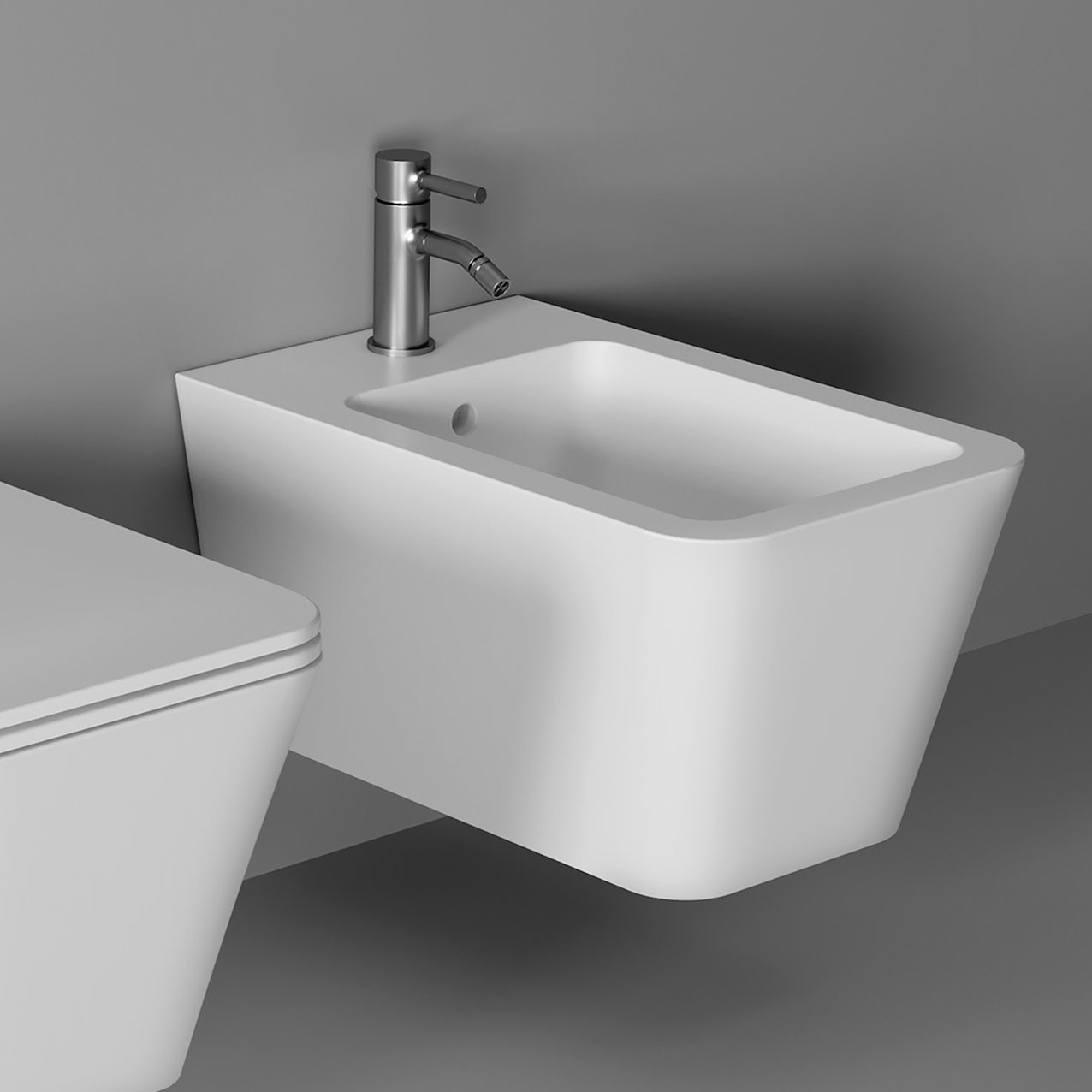 Bidet Hide Square wall hung