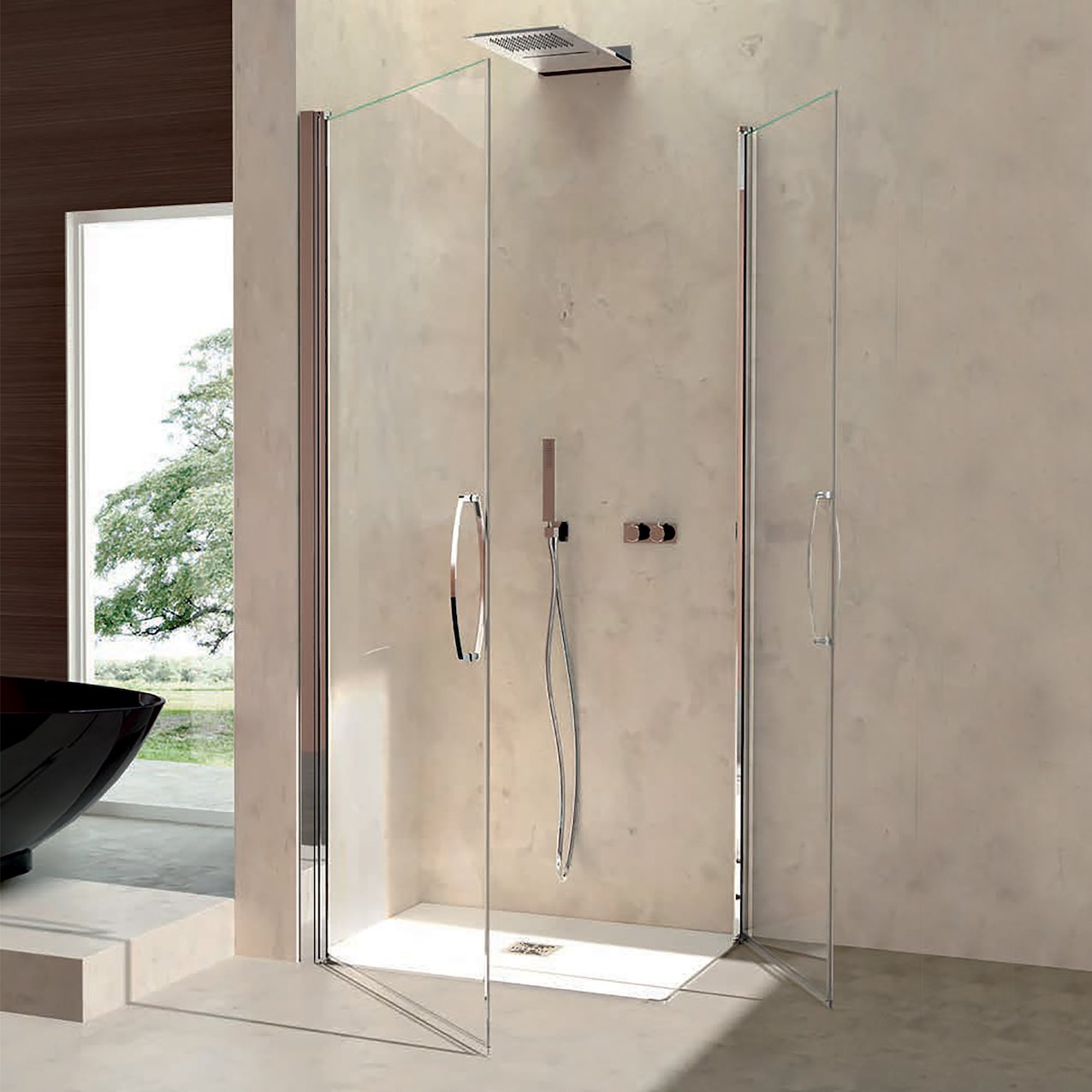 Pivot Shower Enclosure Kahiwa