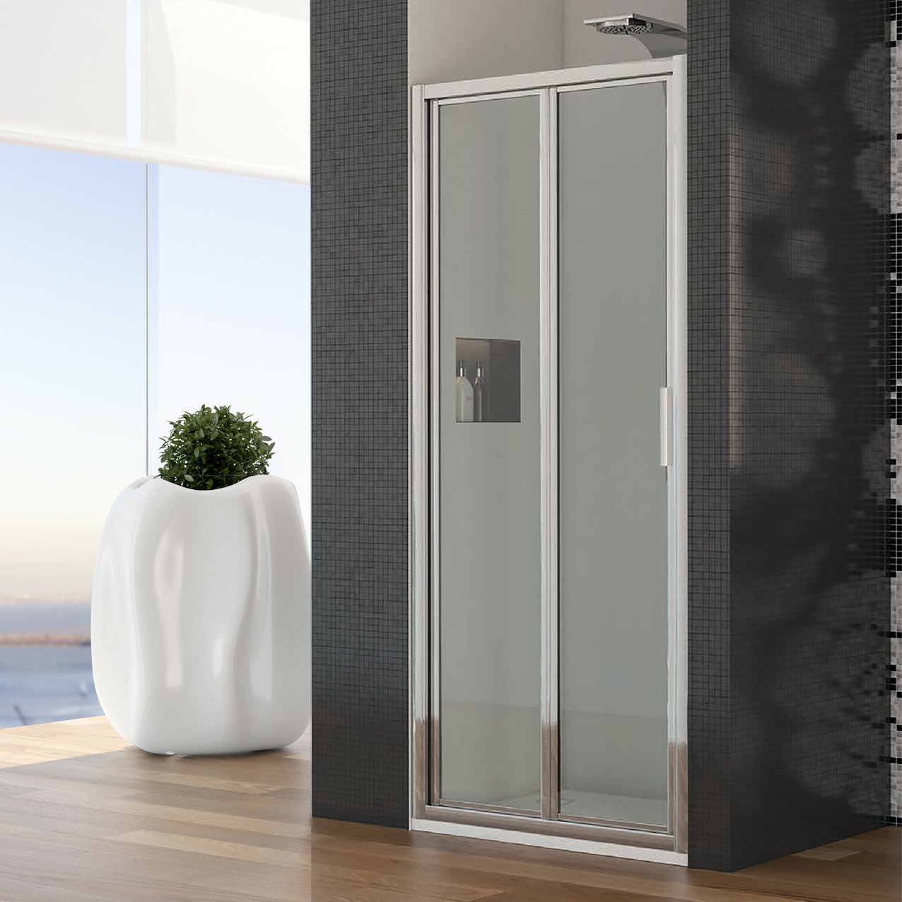 Folding Shower Enclosure Azul