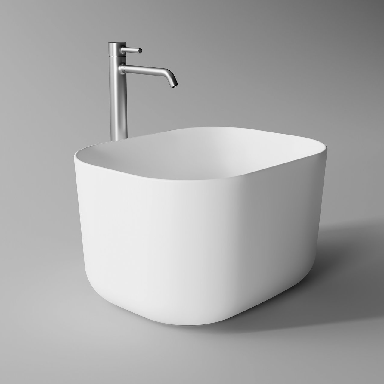 Washbasin UNICA high rectangular