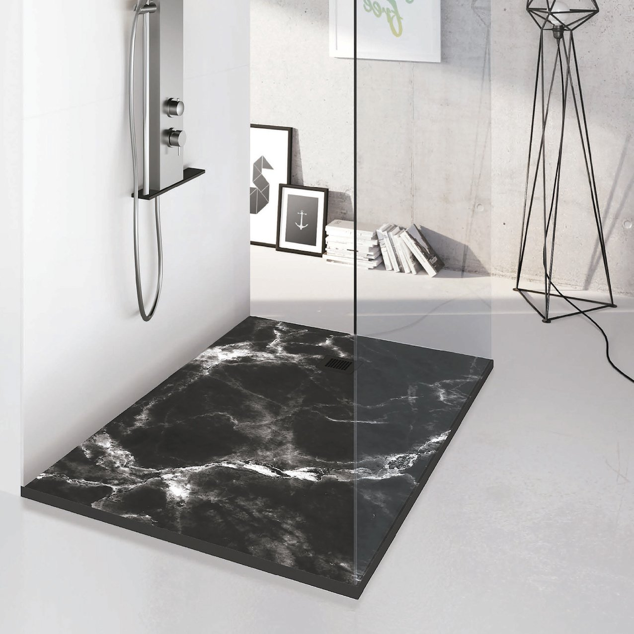 Black Marble Shower Tray
