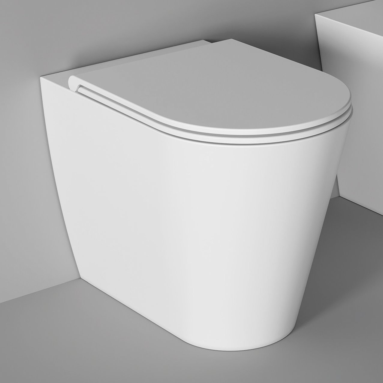 WC Hide Round back to wall