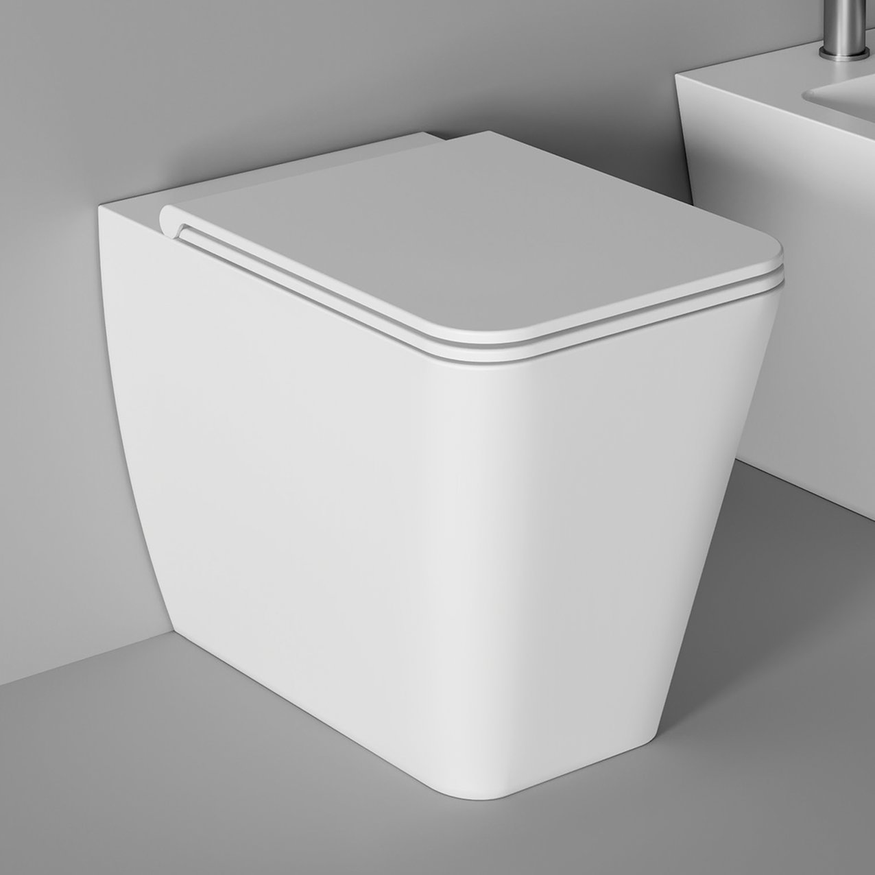 WC Hide Square back to wall